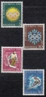 SCHWEIZ  492-495,  Postfrisch **, Olympische Winterspiele St. Moritz 1948 - Suisse