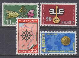 SCHWEIZ  593-596,  Postfrisch **, Jahresereignisse 1954 - Suisse