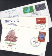 EUROPA NATO-Ausgaben 1969, 3 FDC, Belgien, Luxemburg, Türkei - Europa-CEPT