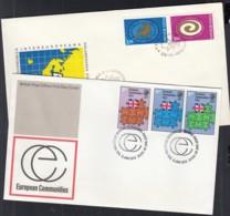 EUROPA Mitläufer-Ausgaben 1973, 2 FDC, Großbritannien, Rumänien - Europa-CEPT