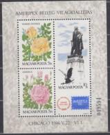 UNGARN Block 184 A, Postfrisch **, Internationale Briefmarkenausstellung AMERIPEX '86, Chicago 1986 - Blocchi & Foglietti