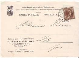 CP PUB : Cuirs En Gros - Leder Manufactur - H. Rosenfeld-Loeb - Luxembourg - Publicités