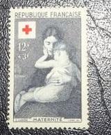 Timbre Neuf - Croix Rouge - 1954 - Maternité Par Eugène Carrière -  12 F   + 3 F - Francia