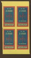 Vignette PAN EUROPE 1968  Charlemagne  Bloc De 4 ** - European Ideas