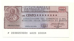1976 - Istituto Bancario San Paolo Di Torino - Associazione Del Commercio E Del Turismo Della Provincia Di Genova - [10] Checks And Mini-checks
