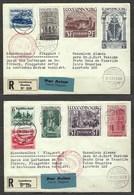 Recommandé Du Luxembourg Pour Les Iles Canaries, Affranchissement Mixte, Avec Publicité De La Lufthansa - Covers & Documents