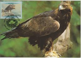 Canada Carte Maximum 2001 Oiseaux Aigle 1842 - Maximumkaarten