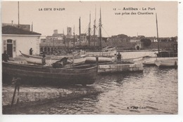 CP ( Antibes - Le Port Vue Prise Des Chantiers ) - Antibes