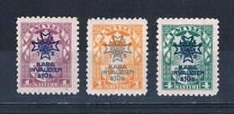 Latvia B21-23 MNH Set Surcharged 1923 CV 5.00 (L0696) - Latvia