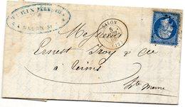 Bouches-du-Rhône - LAC (amandes, Soie, Fab. Huile D'olive) Affr N° 22 Obl GC 3279 Càd Type 15 Salon - 1849-1876: Période Classique