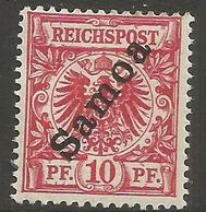 German Samoa - 1900 German Eagle 10pf  MH *   Sc 53 - Colony: Samoa