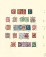ANTIGUA COLECCIÓN DE SELLOS DE GRAN BRETAÑA ANTERIORES A 1881 CON MATASELLO DE MALTA A25 O FECHADOR . - Malta (...-1964)