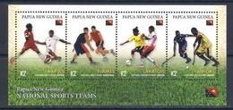 Papua New Guinea (2019) Teams Sports (Football/Soccer, Basketball, Hockey) - Sheetlet [MNH] - Postzegels