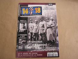 14 18 Le Magazine De La Grande Guerre N° 18 Marne Verdun Moulin De Souain Patton Aviation  Artisanat Tranchée Fournier - Guerra 1914-18