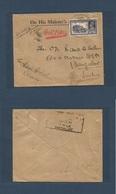 SUDAN. 1941 (Sept) Port - Sudan - Bangalore (22 Sept) FPO Nº14. Indian Forces At Sudan 411/3162/16 Censor Central. Air F - Sudan (1954-...)