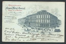 +++ CPA Publicitaire - BRUSSEL - BRUXELLES - Publicité Grand Hôtel Central - Place De La Bourse  // - Cafés, Hotels, Restaurants