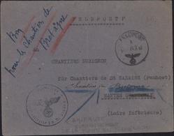 Guerre 39 Amirauté Allemande Commandant La Flotte En France Pour Chantiers Penhoet St Nazaire Feldpost 24 2 43 - Marcophilie (Lettres)