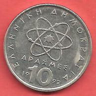 10 Drachmai , GRECE , Cupro-Nickel , 1992 , N° KM # 132 - Grèce