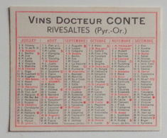 Mini Calendrier 1938 - Vins Docteur Conte - Rivesaltes - Klein Formaat: 1921-40