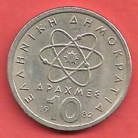 10 Drachmai , GRECE , Cupro-Nickel , 1982 , N° KM # 132 - Grèce