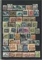 Lot Polen Gestempelte Marken Auf 2 DIN-A4 Seiten - 1919-1939 Republik