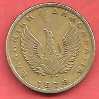 1 Drachma , GRECE , Nickel-Laiton , 1973 , N° KM # 107 - Grèce