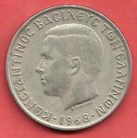 10 Drachmai , GRECE , Cupro-Nickel , 1968 , N° KM # 96 - Grèce