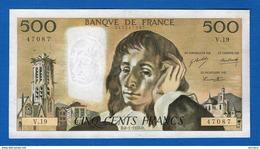 500 Fr  Du 8/1/1970   V 19 - 500 F 1968-1993 ''Pascal''