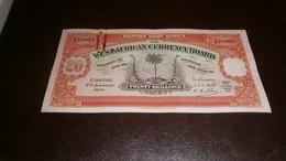 BRITISH WEST AFRICA 20 SHILLINGS 1937 - Billetes
