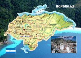 Honduras Country Map New Postcard Landkarte AK - Honduras