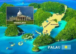 Palau Country Map New Postcard Landkarte AK - Palau