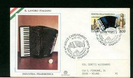 ITALIA - 1989  -  LAVORO ITALIANO  -  FISARMONICA - 6. 1946-.. Repubblica