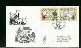 SAN MARINO - FDC  1992  -  CRISTOFORO COLOMBO - Cristoforo Colombo