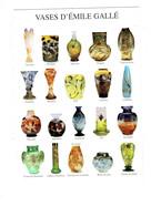 Cpm Vases D'Emile Gallé Dragon Poisson Libellule Orchidée Gui Fuchsia Iris Oeillet Physalis Coeur De Jeannette Goemons - Fine Arts