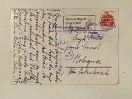 WWII  OCCUPATION  2 PRELEVATA PER CENSURA RESTITUITA ALLA POSTA PER   FROM SWITZERLAND  ZURICH - 9. WW II Occupation (Italian)
