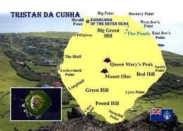Tristan Da Cunha Island Map New Postcard Landkarte AK - Ansichtskarten
