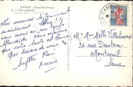 Rare Bureau éphémère Hyères Camping Var 28 6 1962 CP Vue Général Cannes - 1961-....