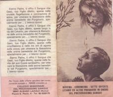 122)librettino Religioso Novena - Coroncina In Onore Del Preziosissimo Sangue - Religion