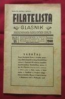 Philatelist Bulletin Kingdom Yugoslavia 1940.No 11 Yugoslav Philatelic Society - Books, Magazines, Comics