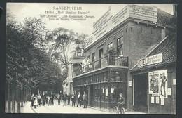 "+++ CPA - Pays Bas - Zuid Holland - SASSENHEIM - Hôtel ""Het Bruine Paard""- Café Restaurant     // - Sassenheim"