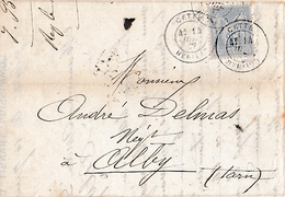1877 - CETTE (34) I. CARDONNET  - Maison De Commission, Transit & Consignation - Bouteilles, Soufre, Cabas, Meules Etc. - Documents Historiques