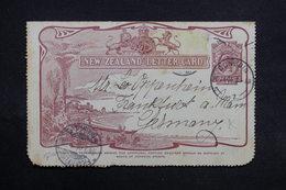 NOUVELLE ZÉLANDE - Entier Postal ( Carte Lettre ) De Dunedin Pour L 'Allemagne En 1905 - L 31737 - Briefe U. Dokumente