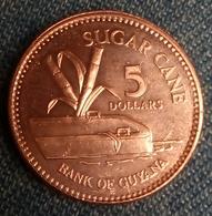 Guyana 5 Dollars, 2008 , UNC , Agouz - Guyana