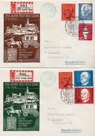 Postal History: Germany 2 Covers With Special Cancel And Overprinted Label: Koblenz On Sankt Goar - Post