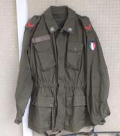 Giacca Pantaloni Mimetica Verde Carabinieri Del 1989 Tg. 50 Completa Marcata - Divise