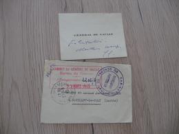 CDV Autographe + Enveloppe Officielle Cabinet Et Cachet Général De Gaule 1945 - Autographes