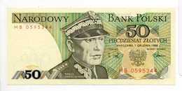 - Billet 50 Zlotych 1988 - NARODOWY BANK POLSKI - - Poland