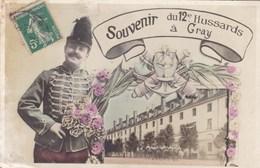 Haute-Saône - Souvenir Du 12e Hussards à Gray - Gray