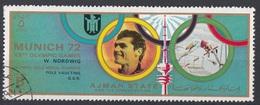 Ajman 1972 Mi. 1603 XX° Olympic Games Munich Monaco Winners Oro Gold Salto Asta Wolfgang Nordwig Germany - Salto