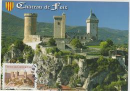 Carte Maximum FRANCE N° Yvert AA 715 (Château De FOIX) Obl Ord Foix 2012 Sur Carte Ed Larrey - Maximum Cards
